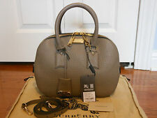 NWT Burberry Heritage Orchard Bowling Leather Tote Satchel Shoulder Bag Handbag