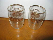 """2 Coors Banquet Beer """"RUSH TO THE ROCKIES CENTENNIAL""""  1859-1959 Tasting Glasses"""