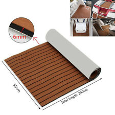 "21.7""X94"" EVA Foam Teak Sheet Marine Flooring Boat Car Decking Self-Adhesive Pad"