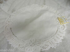 NEW BATTENBURG WHITE PLACE-MATS Table Toppers 12 @ 18 x 18 CHIC  Cottage Shabby