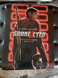 SNAKE EYES G.I. JOE Theatrical POSTER 27x40 D/S Very Small Edge Wear never Used