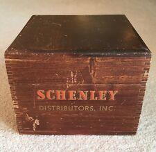 Vintage Schenley Distributors Dovetail Wood File Box