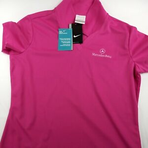 Mercedes Benz Pink NIKE GOLF polo Size Large Polo Golf Shirt