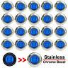 """20x Blue 3/4"""" Bullet Clearance Side Marker LED Light For Truck Trailer RV 12V"""