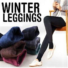 Women Winter Leggings / Faux velvet winter warm leggings / Women pants /