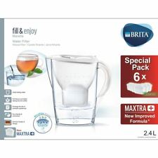 BRITA Marella Cool MAXTRA+ Plus Water Filter Jug 2.4L + 6 Month Cartridges Pack