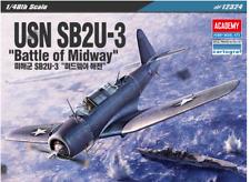 "1/48 USN SB2U-3 ""Battle of Midway"" / Academy Model Kit / #12324"