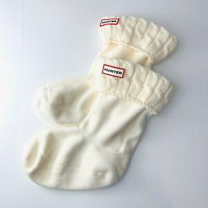 Hunter Boots Fleece Medium Boot Socks Liner Cream Women's Size Medium NEW