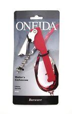 ONEIDA WAITER'S CORKSCREW RED ~ FOIL CUTTER ~ WINE TOOL ~ NEW