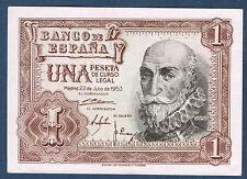 BILLET de BANQUE D'ESPAGNE de 1 PESETA Pick n° 144 du 22 7 1953 en SUP E0042683