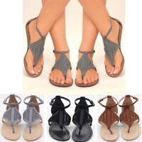Summer Women Weave Gladiator Sandals Casual Beach Flip Flops Slipper Flat Shoes