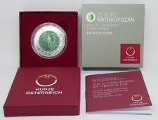 25 Euro Silber - Niob Anthropozän, Österreich 2018 - inkl. Etui und Zertifikat