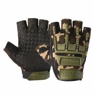 Half Finger Tactical Military Gloves Fingerless Multicam Outdoor Shooting Gloves