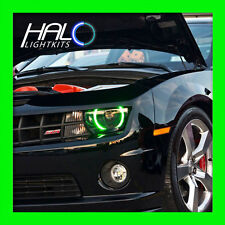 2010-2013 CHEVY CAMARO RS GREEN SMD LED HALO HEADLIGHT LIGHT KIT 2 Rings ORACLE