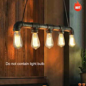 E27 Retro Vintage Deckenlampe Hängelampe Wasserrohr Industrial Pendelleuchte Bar