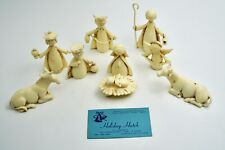 Vintage Holiday Nativity Set Plastic