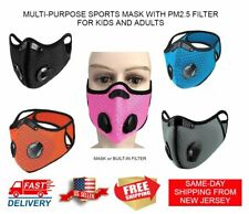 USA CYCLING SPORTS MASK w/ PM2.5 ACTIVATED CARBON FILTER FOR KIDS AND ADULTS
