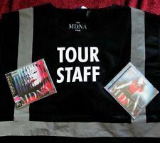 MADONNA MDNA CONCERT TOUR CREW REFLECTIVE VEST SEALED JAPAN CD & US GOLD PROMO