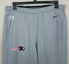 NIKE NEW ENGLAND PATRIOTS NFL TEAM ISSUED SWEATPANTS GREY VERY RARE (SIZE LARGE)