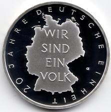10 Euro 2010 10 Jahre Deutsche Einheit Polierte Platte PP Silber 925/-
