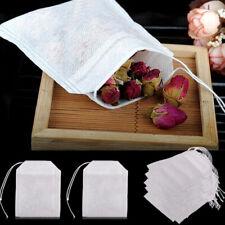 100/50PCS Empty Paper Tea Bags Filter With String Heat Seal Tea Bags UK POST