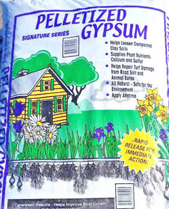 10lbs PELLETIZED Gypsum Pellet FAST ACTING Garden Lawn Fertility Calcium Sulfur