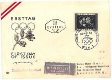 C254 1952 Austria Historic Sport Illustrated Olympics Issue First Day Cover PTS