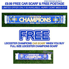 Leicester City Champions Football Scarf & Free Car Scarf Gift Souvenir 2015-16