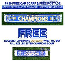 Leicester City Champions Sciarpa 2015 2016/con *** GRATUITA *** Sciarpa AUTO