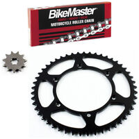Front and Rear Steel Sprocket Kit for OffRoad KAWASAKI KX125H 1990-1991