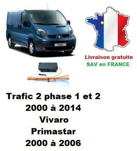 Boitier de désactivation antidémarrage Renault Trafic 2, Opel Vivaro, Primastar