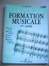 Cours de formation musicale 3ème année exercices pratiques et théoriques /N21