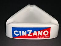 Vintage Cinzano Ceramic Bar Ashtray Vermouth Triangle Made in Italy