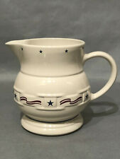 New ListingLongaberger Pottery All American Stars Stripes Pitcher