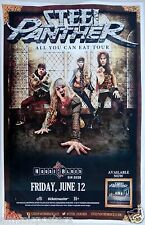 """STEEL PANTHER """"ALL YOU CAN EAT TOUR"""" 2015 SAN DIEGO CONCERT POSTER - Glam Metal"""