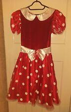 Disney Store Minnie Mouse Dress and Ears Headband Size Medium VGC