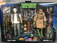 (Us Stock) Neca Teenage Mutant Ninja Turtles Casey Jones & Raphael 2 Pack