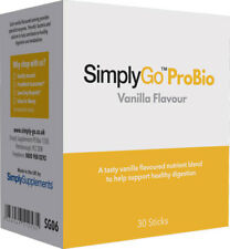 SimplyGo Probiotic Powder|Friendly Bacteria & Calcium for Digestion|30x7g Sachet