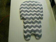 Stack High Chair Cover I Gray And White Chevron