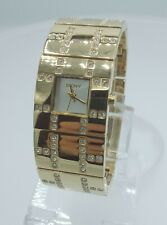 DKNY NY3666 ladies full gold time only watch diamonds inserts NY-3666 3 ATM
