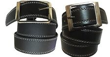 Combo of Men's Belt Black color white stitching & Red Stitching Belt Lightweight