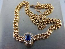 Armbänder mit Edelsteinen aus Gelbgold echten Saphir
