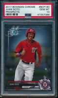 PSA 10 JUAN SOTO 2017 Bowman Chrome Prospects Nationals Rookie Card RC GEM MINT