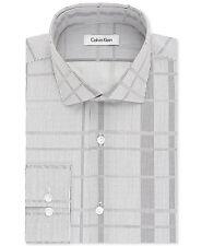 NWT $175 CALVIN KLEIN Men SLIM-FIT BLACK WHITE LONG-SLEEVE DRESS SHIRT 16-16.5 L
