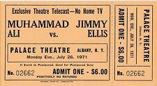 'Original' Theatre Ticket  July 26,1971  - MUHAMMAD ALI VS. JIMMY ELLIS - Mint
