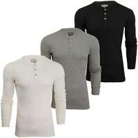 Levi's Mens Grandad '300LS Henley' Rib Long Sleeved T-Shirt
