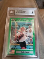 ANDRE AGASSI 1991 NETPRO #3 TOUR STAR TENNIS ROOKIE CARD RC MINT BGS 9