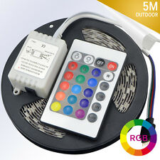 5M 300 SMD 5050 RGB Flexible Waterproof LED Strip light + IR Remote Controller