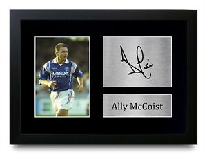 Ally McCoist Signed A4 Framed Printed Autograph Glasgow Rangers Print Gift