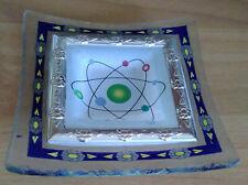 Portacenere in vetro con inserto in metallo